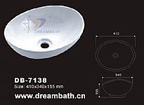 Oval Ceramic Sink