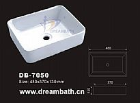 Rectangular Ceramic Basin