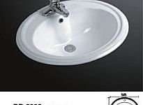 Porcelain Drop In Sink